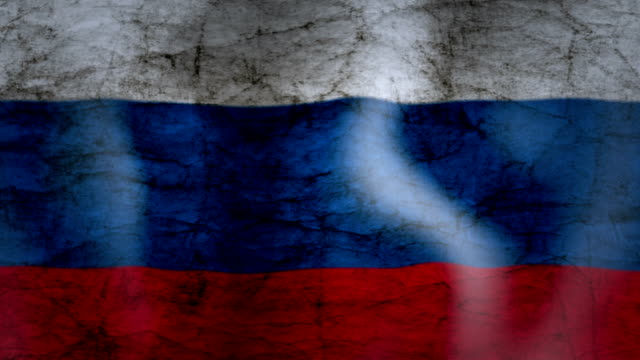 Waving Flag of Russia, grunge look