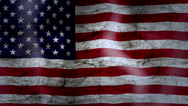 vídeos de stock e filmes b-roll de waving flag of usa, grunge look - linha ondulada