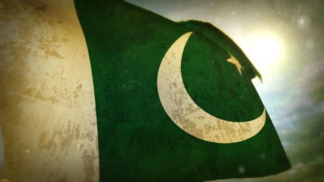 waving flag - pakistan - pakistan stock videos & royalty-free footage