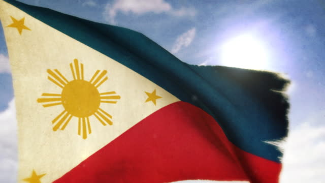 waving flag - philippines - philippines flag stock videos & royalty-free footage