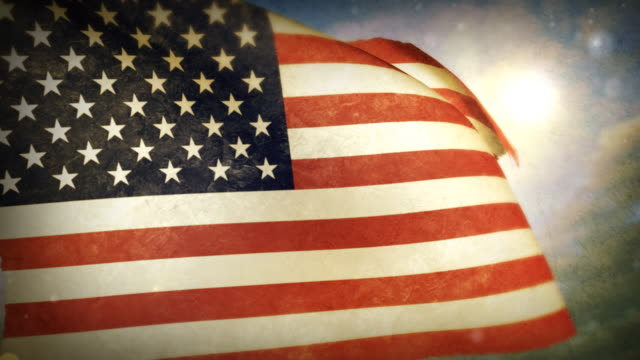 stockvideo's en b-roll-footage met waving flag - u.s.a. - amerikaanse vlag