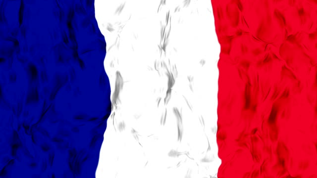 waving france flag in slow motion. - uruguaian flag stock videos & royalty-free footage