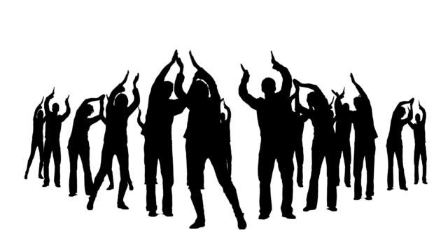 vídeos y material grabado en eventos de stock de agitando las manos - silueta