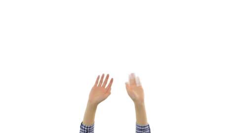 stockvideo's en b-roll-footage met zwaaiende handen. - waving