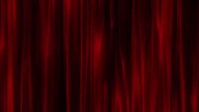 メタリックブルー、レッド、ゴールデン、グリーン垂直サタンとカーテン4kストックビデオを振る - ベルベット点の映像素材/bロール