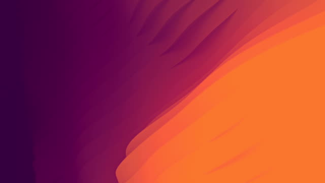 waving movement colored surface with stripes, computer simulation. abstract geometric line art animation similar to the flow of liquid. 3d rendering. hd resolution - distorted stock videos & royalty-free footage