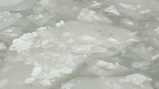 waving natural melting slush ice cold winter day abstract backgrounds - natural pattern stock videos and b-roll footage