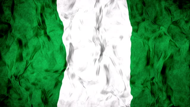 waving nigerian flag in slow motion. - nigerian flag stock videos & royalty-free footage