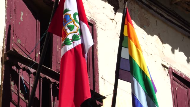 waving peruvian flag and from cusco - loyalty stock videos & royalty-free footage