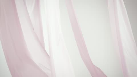 シルクのカーテンを振る - 絹点の映像素材/bロール