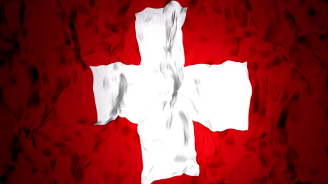 waving switzerland flag in slow motion. - fifa stock videos & royalty-free footage