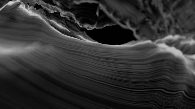 vídeos de stock e filmes b-roll de wavy abstract lines - linha ondulada