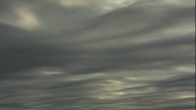 WS T/L Wavy grey clouds / Gilchrist, Texas, USA