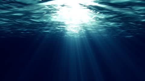 vídeos y material grabado en eventos de stock de ondulado mar en bucle - rayo de luz