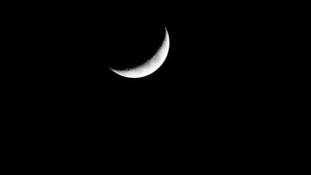 vídeos y material grabado en eventos de stock de depilación media luna hacia abajo cielo nocturno de entrada salida - full hd format