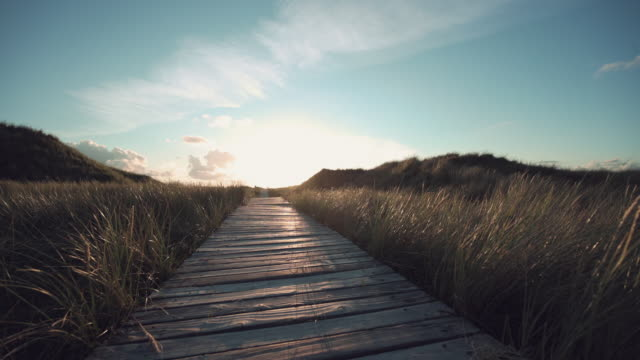 weg durch die dünen - footpath stock-videos und b-roll-filmmaterial
