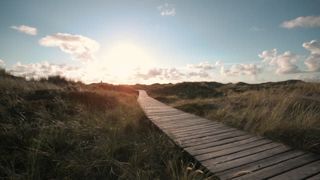 way through the dunes - pedestrian walkway stock videos & royalty-free footage