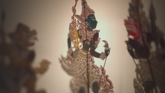 wayang kulit (shadow puppets) - storytelling stock videos & royalty-free footage