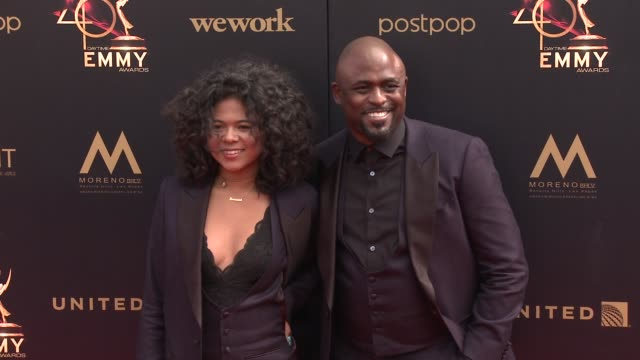 wayne brady and maile masako brady at the 2019 daytime emmy awards at pasadena civic center on may 05 2019 in pasadena california - daytime emmy preisverleihung stock-videos und b-roll-filmmaterial