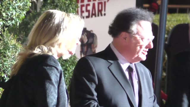 wayne knight arrives to hail caesar premiere at regency village theatre in westwood in celebrity sightings in los angeles - regency village theater stock videos & royalty-free footage