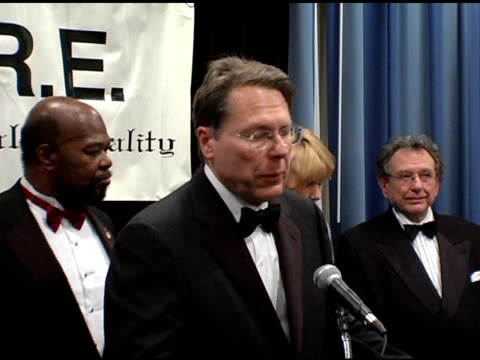 wayne lapierre executive vice president and chief executive officer of the national rifle association of america at the 22nd annual martin luther... - national rifle association stock videos & royalty-free footage