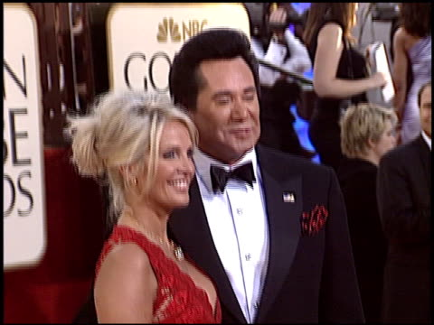 wayne newton at the 2005 golden globe awards at the beverly hilton in beverly hills, california on january 16, 2005. - wayne newton stock videos & royalty-free footage