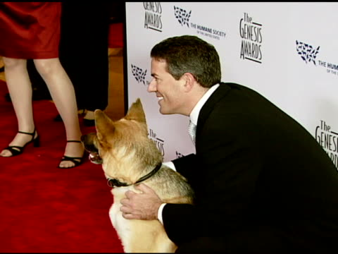 Wayne Pacelle Humane Society of the United States President and CEO with Abbey the German Shephard at the 2008 Genesis Awards at the Beverly Hilton...