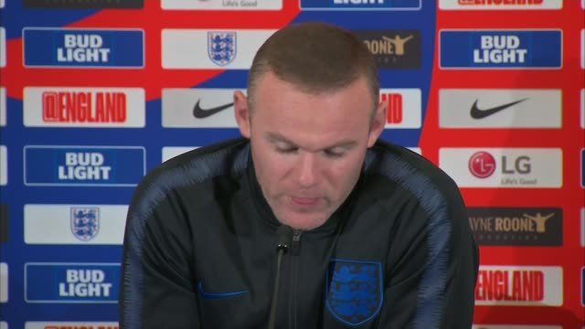 Wayne Rooney rejoining England for one night only ENGLAND BurtonuponTrent Tatenhill St George's Park INT Wayne Rooney press conference SOT
