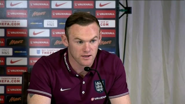 Wayne Rooney says Danny Welbeck has benefited since joining Arsenal SCOTLAND Glasgow Celtic Park INT Wayne Rooney press conference SOT