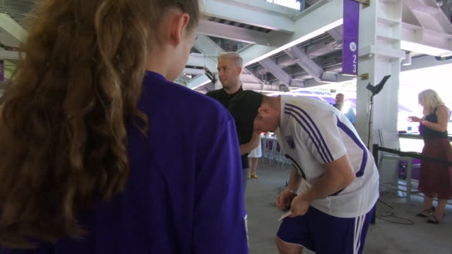 wayne rooney signing autographs for fans in orlando - major league soccer stock videos and b-roll footage