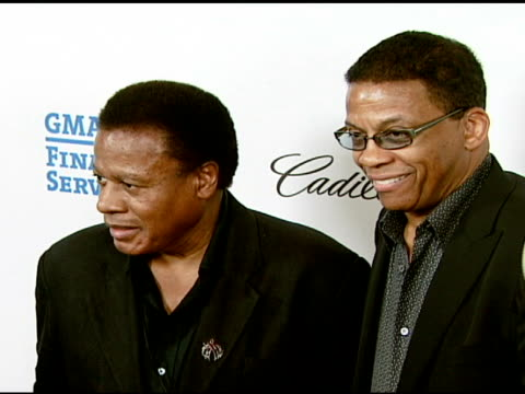 wayne shorter and herbie hancock at the the thelonious monk institute of jazz and the recording academy® los angeles chapter partner to honor jazz... - herbie hancock stock videos & royalty-free footage