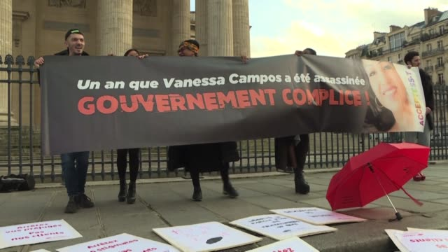 we all feel fear as we work while the activity was much more serene before: sex workers gather in front of the pantheon in paris on international day... - pantheon paris stock videos & royalty-free footage