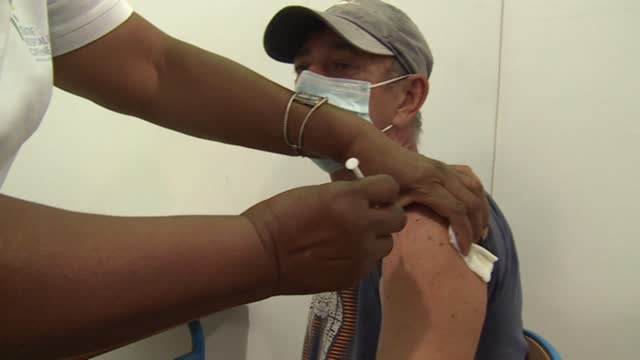 """we are at around 500 vaccinations a day, and we operate seven days a week,"""" explains dr antoine burin, as french guiana is once again faced with a... - french overseas territory stock videos & royalty-free footage"""