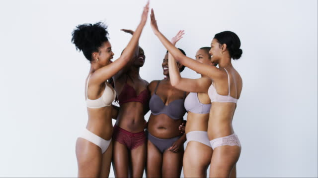 we are confident in our skin - underwear stock videos & royalty-free footage