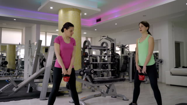 we are stronger together!mature women have a training with personal trainer - durevolezza video stock e b–roll