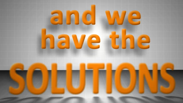 we are the solution - solutions stock videos & royalty-free footage