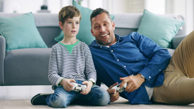 we can play video games all day long - son stock videos & royalty-free footage