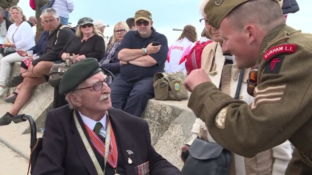 we felt we were back with friends sitting here it's quite moving just to be here with these lads - d day stock videos and b-roll footage