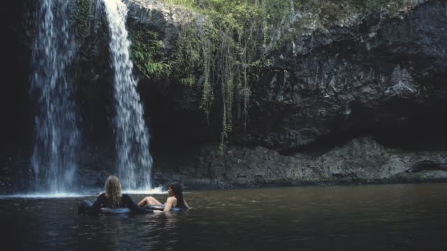 we found our tropical paradise - waterfall stock videos & royalty-free footage