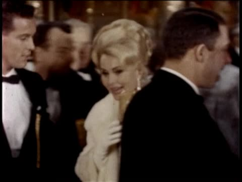 we go out on a date to a hollywood movie premiere of mgm's dr zhivago with celebrity zsa zsa gabor mgm movie premiere zsa zsa with her husband press... - gregory peck stock videos and b-roll footage