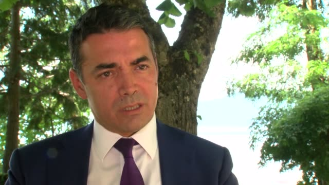 we have made history today says macedonian foreign minister nikola dimitrov in an exclusive interview with afp adding that the signing of the accord... - stepping stone stock videos & royalty-free footage
