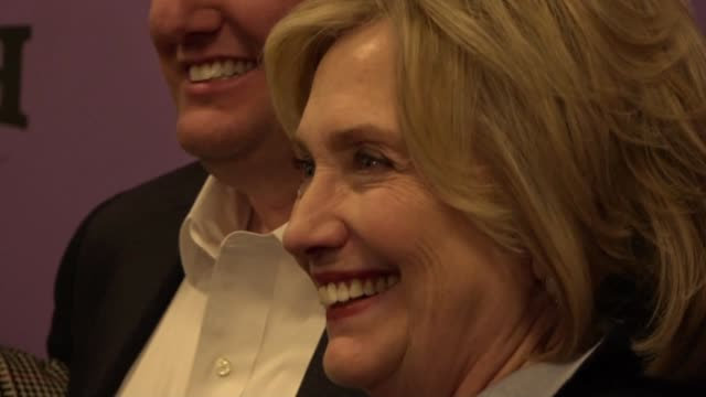 we have to win i don't think we can afford another four years with donald trump says former presidential candidate hillary clinton during the world... - documentary film stock videos & royalty-free footage
