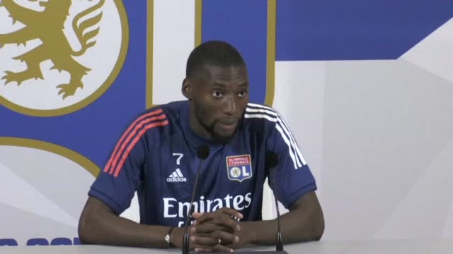"""vídeos de stock, filmes e b-roll de we know that it's not necessarily the best team that wins, but the team that's going to want to win that match,"""" says lyon striker karl toko ekambi,... - olympique lyonnais"""