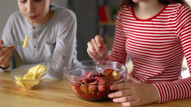 we love fruit salads - fruit salad stock videos & royalty-free footage