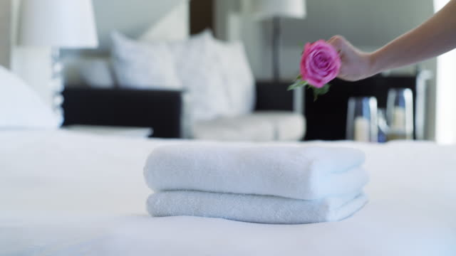 we make our rooms extra special - towel stock videos & royalty-free footage