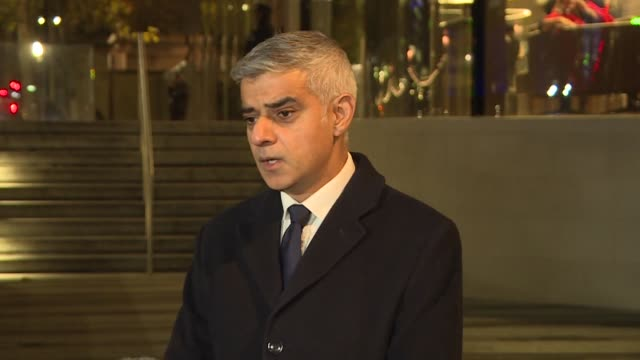 we must and we will stand united and resolute in the face of terror says london mayor sadiq khan following the terrorist stabbing spree on london... - terrorism stock videos & royalty-free footage