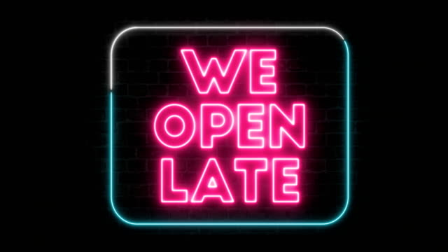 we open air sign - neon colored stock videos & royalty-free footage