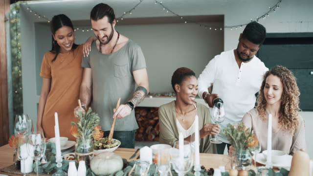 we should have these get-togethers more often - dinner party stock videos & royalty-free footage
