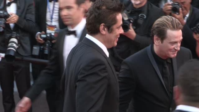 We spotted Christoph Waltz Benicio del ToroVincent Lindon Mads Mikkelsen and Benoit Magimel David Lynch Isabelle Huppert Pedro Almodovar George...