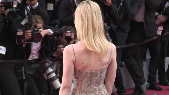 We spotted Elle Fanning on the red carpet for the 70th Anniversary of the Cannes Film Festival on May 23 2017 in Cannes France